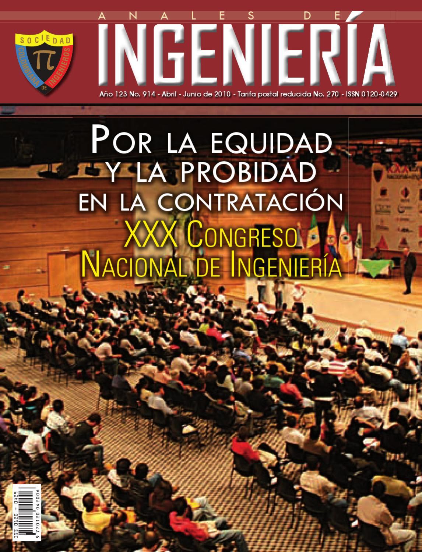 Revista Anales de Ingenieria ed.914 by SOCIEDAD COLOMBIANA DE ...