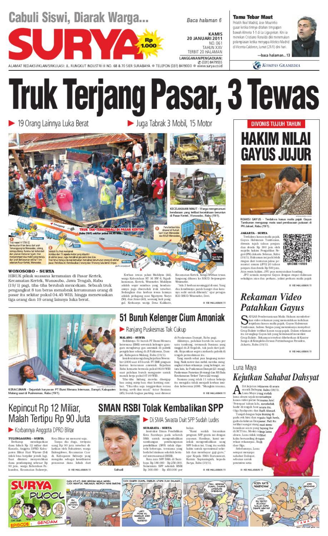 Surya Edisi Cetak 20 Januari 2011 By Harian Issuu Produk Ukm Bumn Tempat Tisu Handmade Trenggalek
