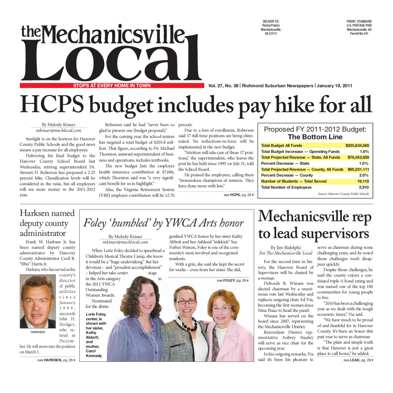 01/19/2011 by The Mechanicsville Local - issuu