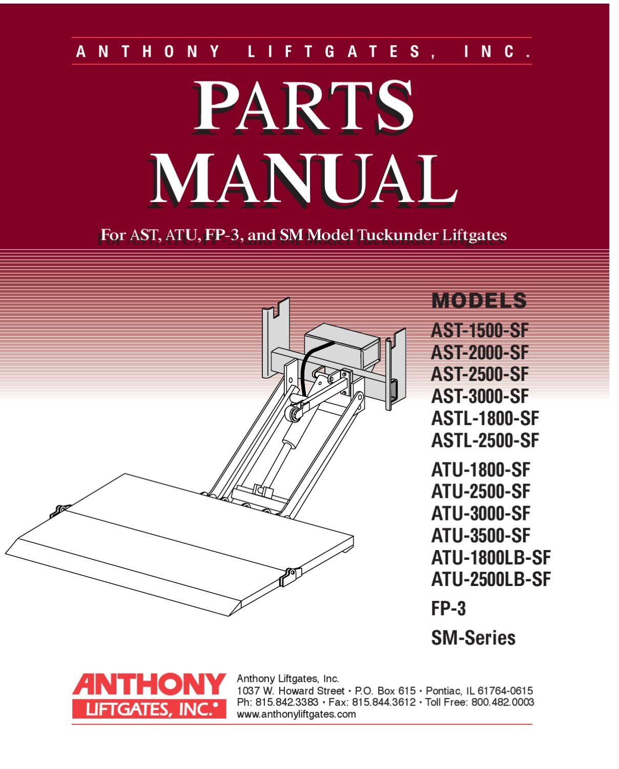 Anthony Atu Series Liftgate By The Parts Co Issuu Lift Gate Wiring Diagram