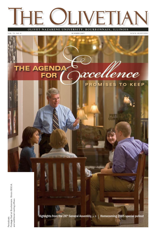 The Agenda for Excellence by Olivet Nazarene University - issuu