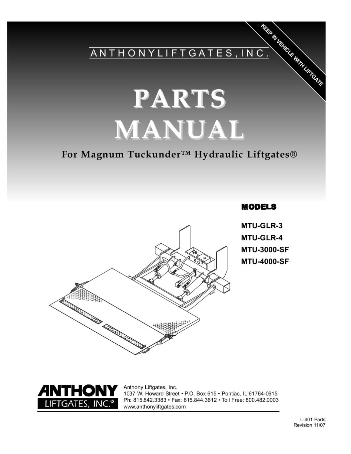 Anthony MTU Series Liftgate by THE Liftgate Parts Co. - issuuIssuu