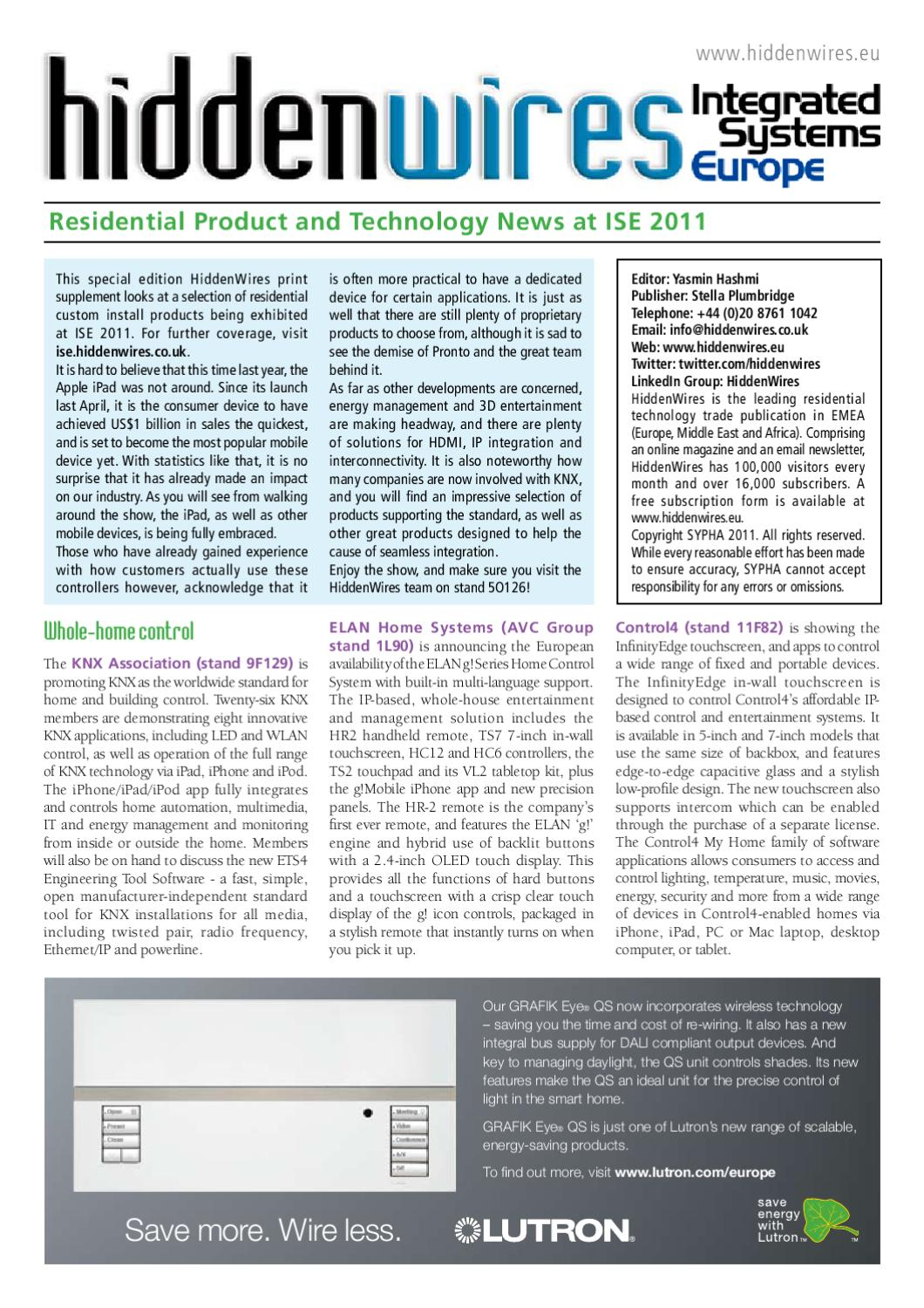HiddenWires Supplement - ISE 2011 by HiddenWires - issuu