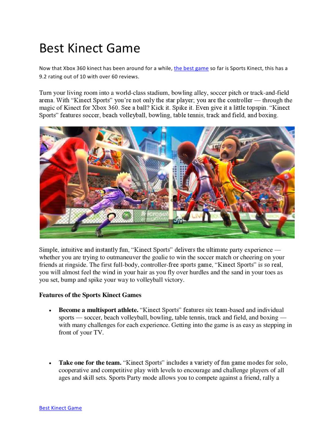 Best Kinect Games by Margot Oliver - issuu