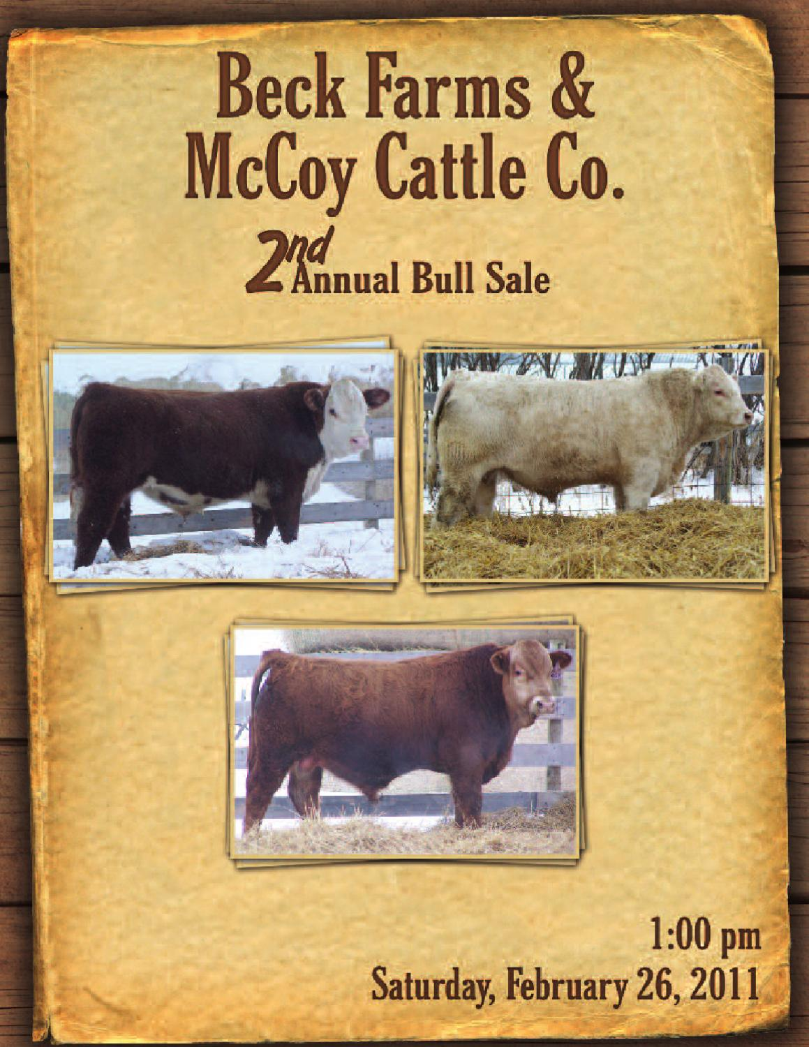 Beck Farms & McCoy Cattle Co. 2nd Annual Bull Sale by Today\'s ...