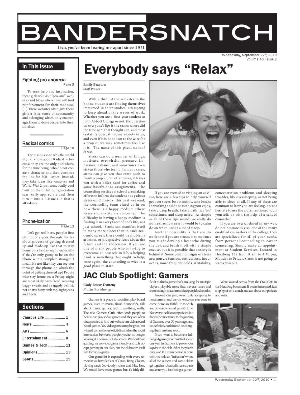 Volume 40 Issue 2 by Bandersnatch - issuu