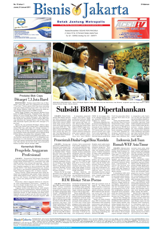 Bisnis Jakarta Jumat 21 Januari 2011 By E Paper Kmb Issuu Produk Umkm Bumn Kapal Batok Lebak