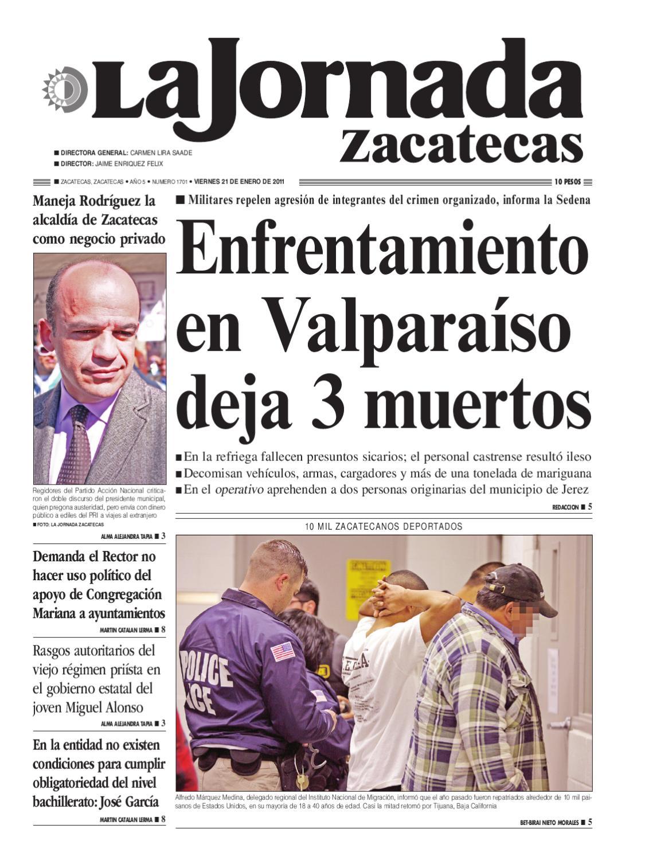 La Jornada Zacatecas Viernes 21 De Enero De 2011 By La Jornada  # Muebles Goitia Tijuana