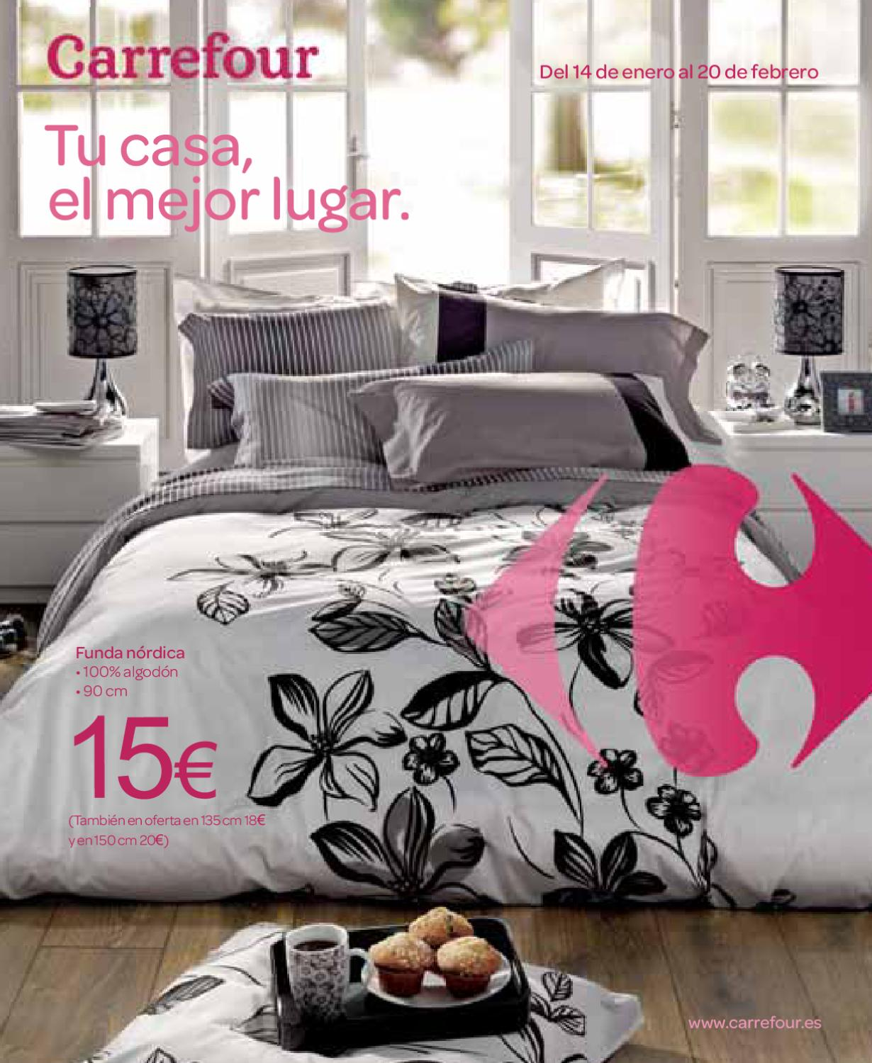 Hogar carrefour by maria martin issuu Fundas nordicas carrefour