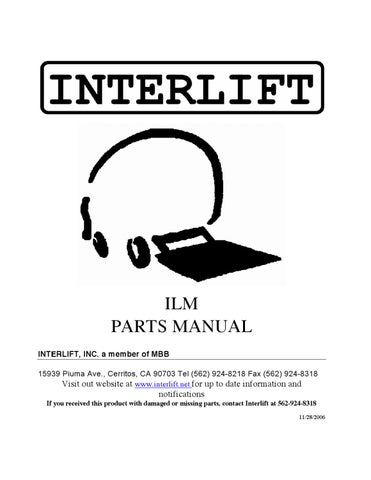 interlift ilm series liftgate by the liftgate parts co issuu rh issuu com Interlift Pump Interlift Pump