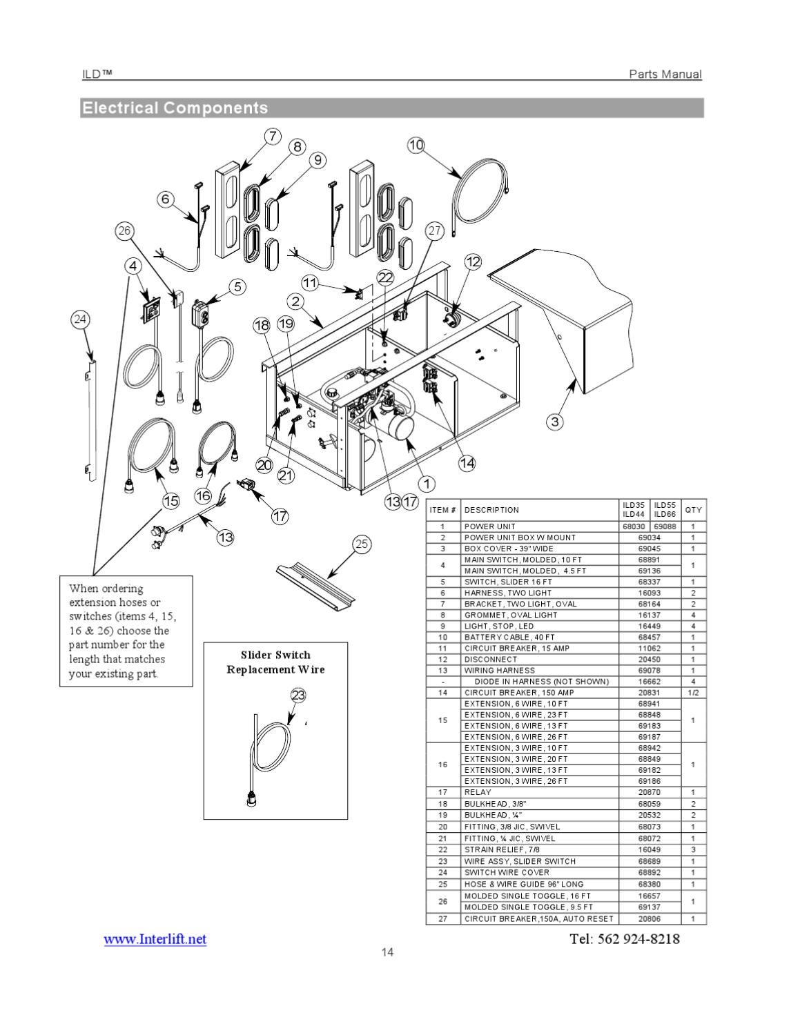 page_10 interlift ild series liftgate by the liftgate parts co issuu mbb interlift wiring diagram at bayanpartner.co