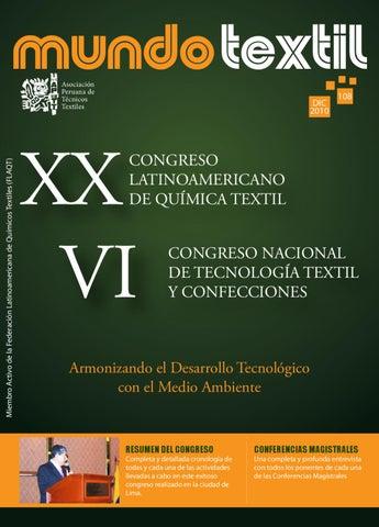 Revista mundo textil edici n 108 by asociacion peruana for Resumen del libro quimica en la cocina