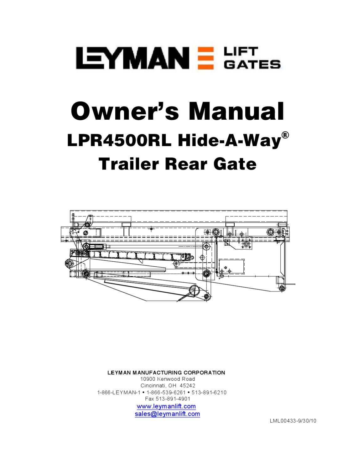 Leyman Lpr 4500rl Series Liftgate By The Liftgate Parts Co