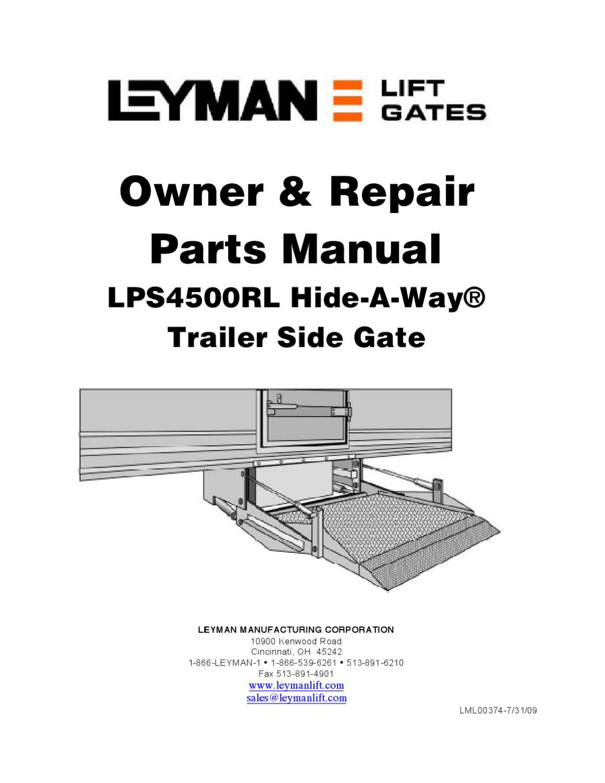 [SCHEMATICS_48ZD]  Leyman LPS 4500RL Series Liftgate by THE Liftgate Parts Co. - issuu | Leyman Liftgate Wiring Diagram |  | Issuu
