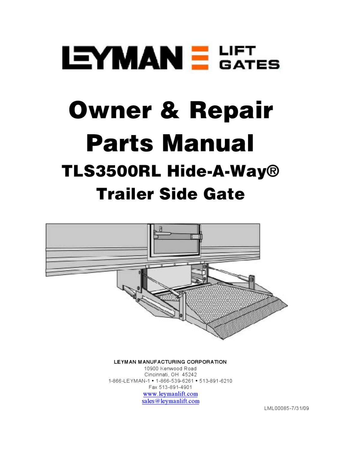 page_1 leyman tls 3500rl series liftgate by the liftgate parts co issuu leyman liftgate wiring diagram at n-0.co