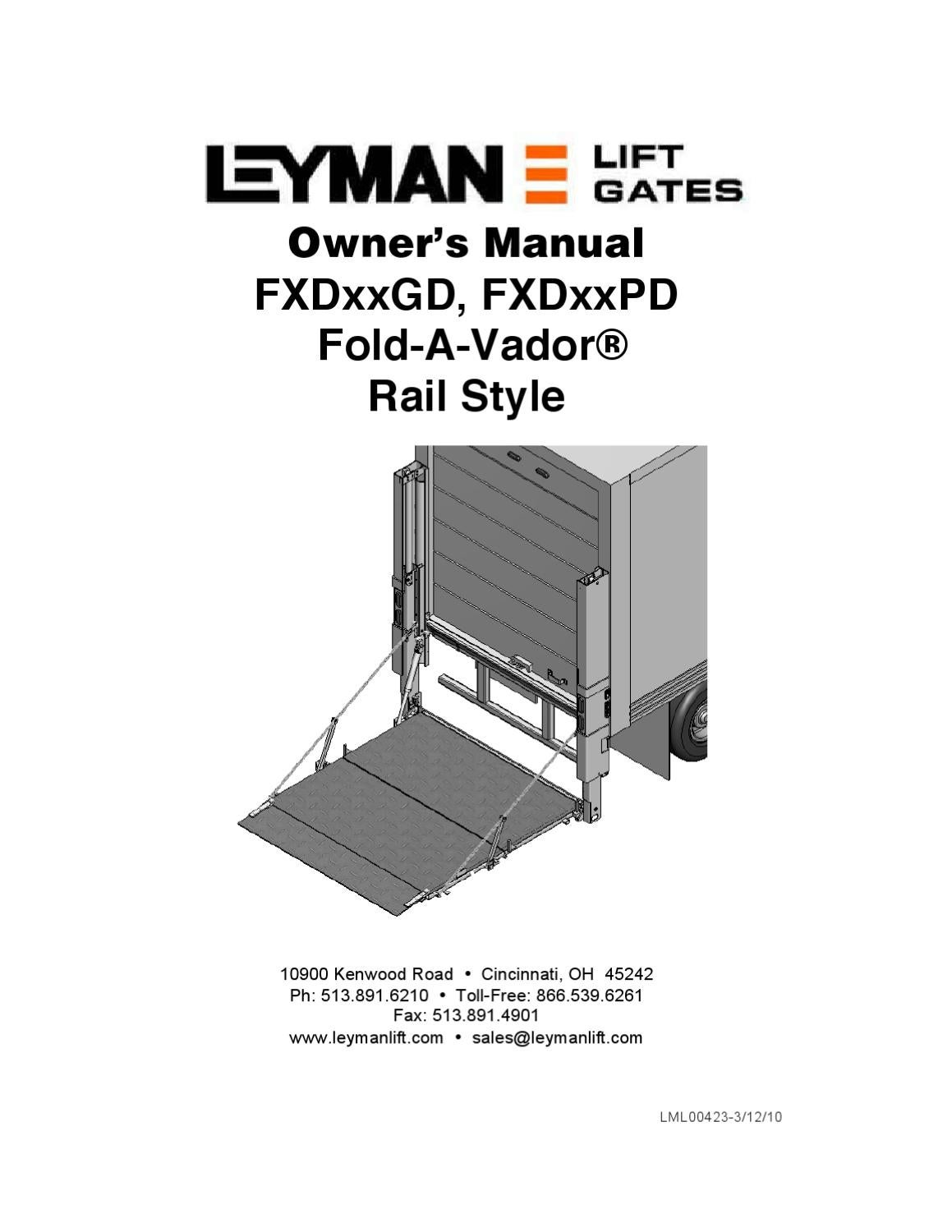 Maxon Bmra Cs Series Liftgate By The Parts Co Issuu 280252 Wiring Harness Diagram Leyman Fxd 6800