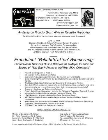 proudly sa parasite hypocrisy fraudulent rehabilitation  page