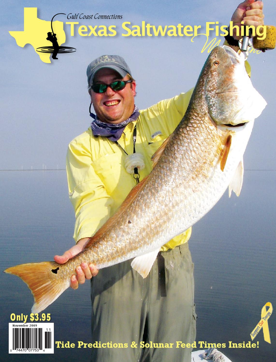 November 2009 by texas salwater fishing magazine issuu for Fishing tackle unlimited houston tx