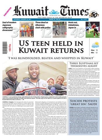a65ed724d13 22 Jan by Kuwait Times - issuu