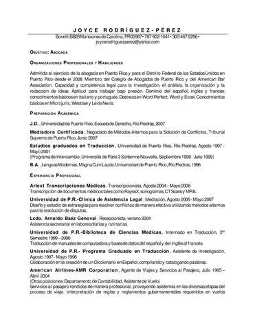 ejemplo resume licenciada abogada by anllelic lozada issuu