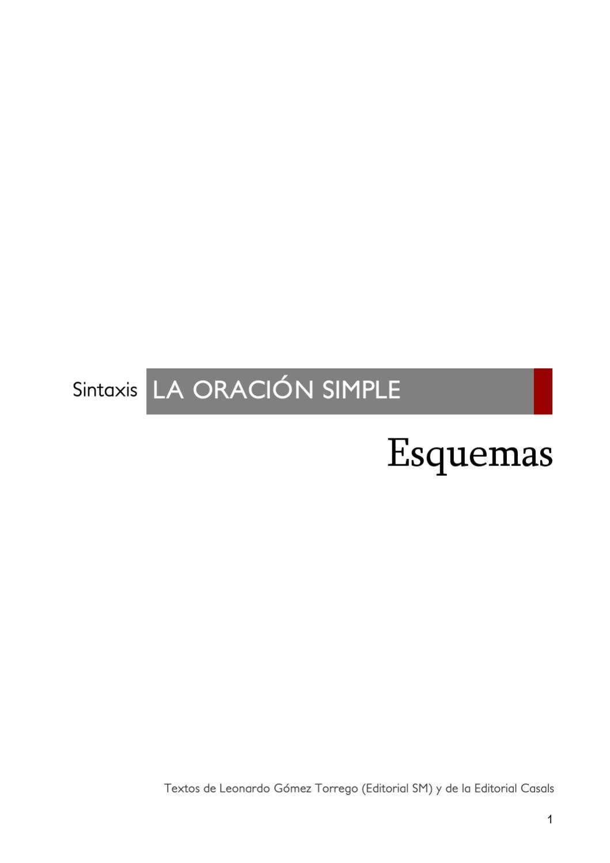 La Oración Simple By Instituto De Secundaria Ies Clara