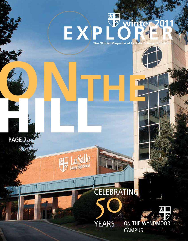 The Explorer Magazine Winter 2011 Edition by La Salle College High ...