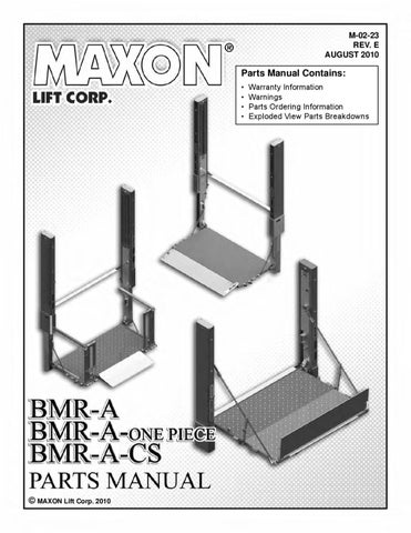 maxon bmra cs series liftgate by the liftgate parts co issuu page 1