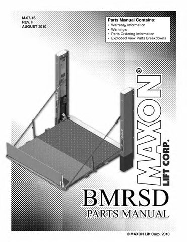 maxon bmrsd series liftgate by the liftgate parts co issuu. Black Bedroom Furniture Sets. Home Design Ideas