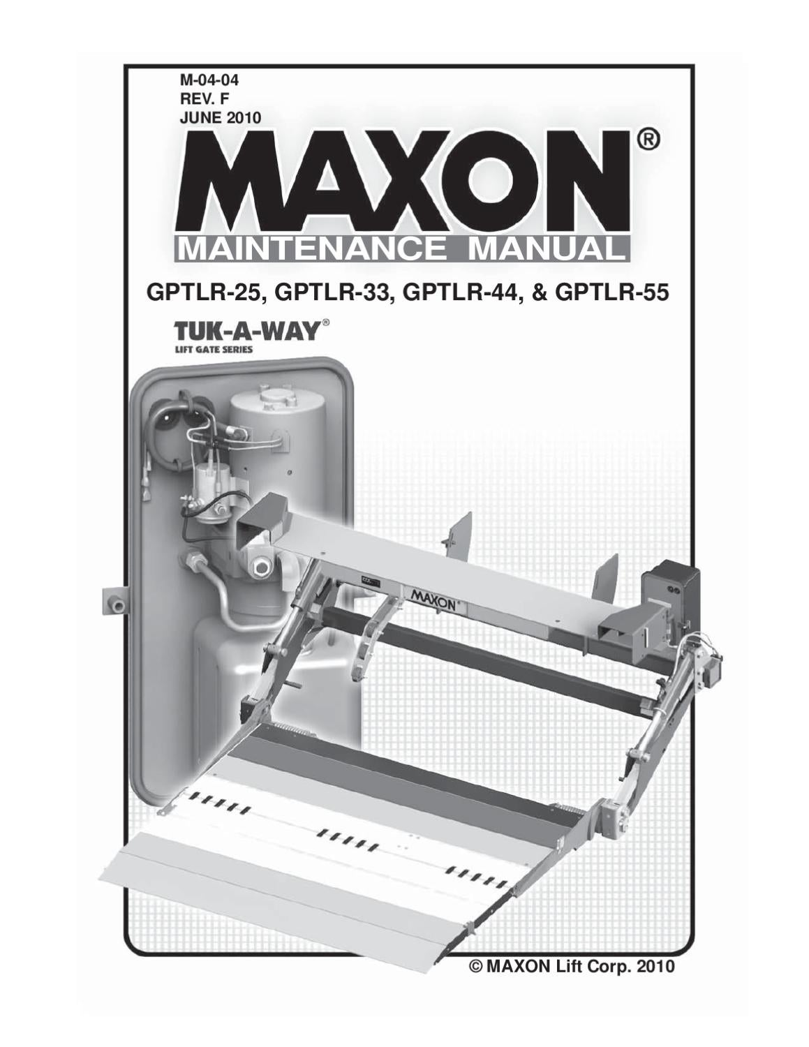Maxon Gptlr Series Liftgate By The Liftgate Parts Co