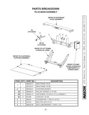 Maxon Te 25 Amp Te 25l Series Liftgate By The Liftgate Parts