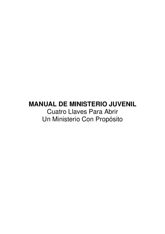 Manual Del Ministerio Juvenil By Rodrigo Melendez Issuu