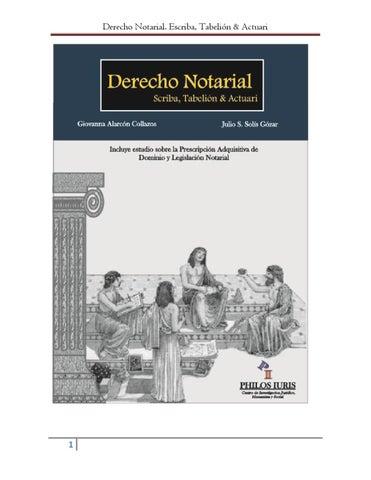 Derecho Notarial Escriba Tabelión Y Actuari By Carla