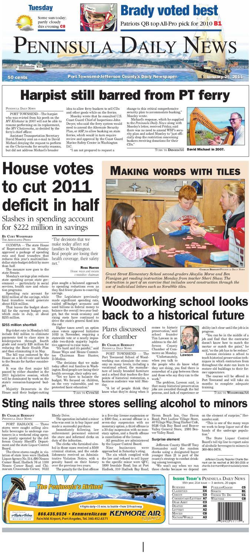 4a36af5571a PDN 01 25 2011 J by Peninsula Daily News   Sequim Gazette - issuu
