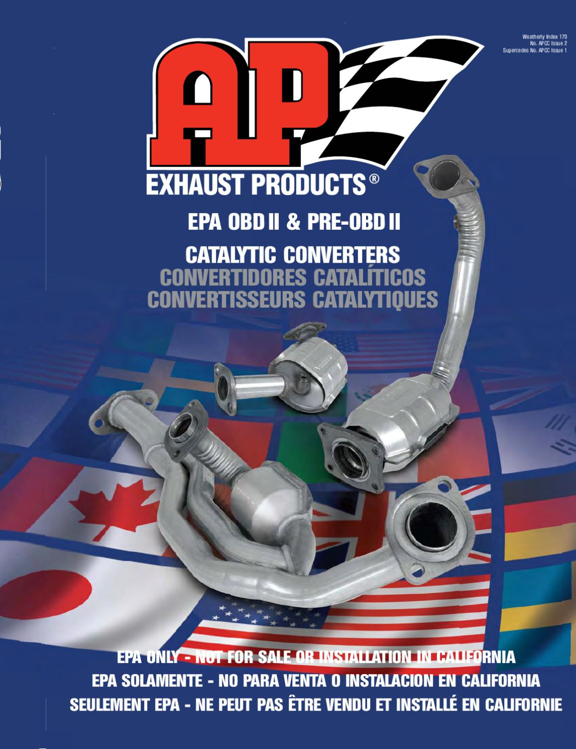 AP Exhaust 608227 Universal OBDII By Design Oval Converter for Bonneville