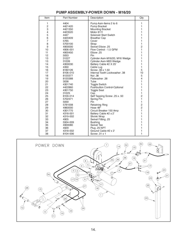 waltco hydraulic pump wiring diagram clark wiring diagram