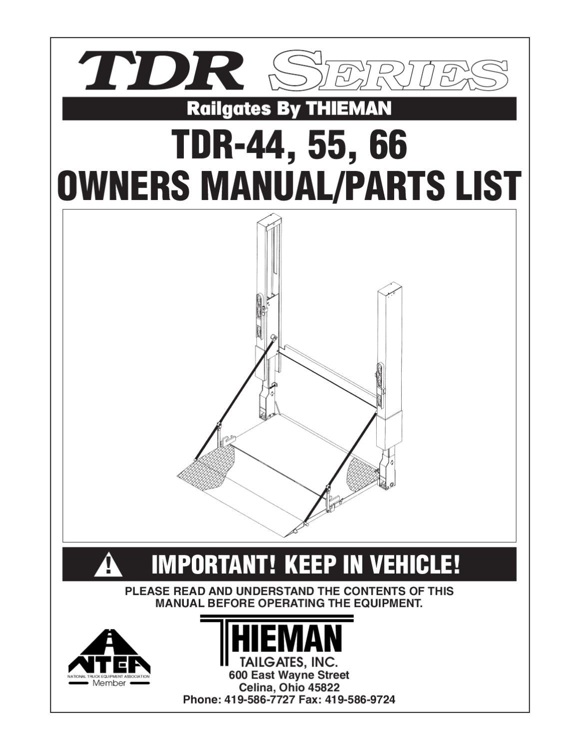 Thieman Liftgate Wiring Diagram List Of Schematic Circuit Maxon Bmraw 44 Tdr Series By The Parts Co Issuu Rh Com
