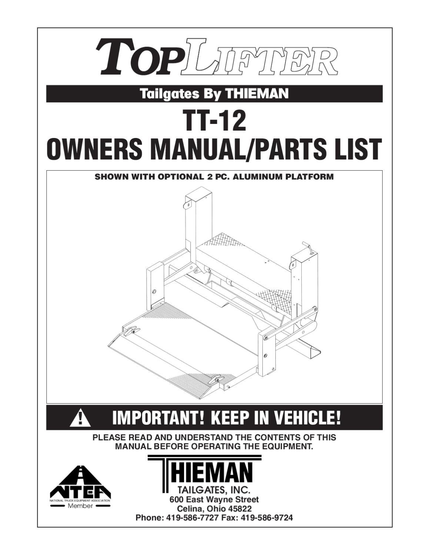 thieman tt 12 series liftgate by the liftgate parts co issuu rh issuu com
