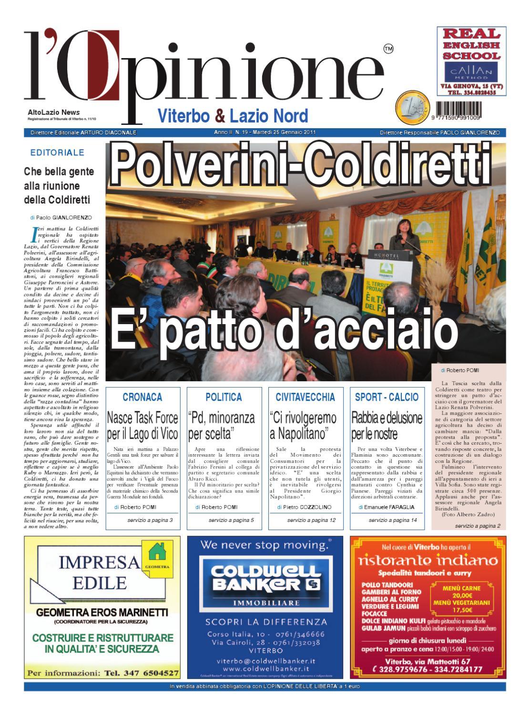 L Opinione di Viterbo e Lazio nord - 25 gennaio 2011 by Nuovo Viterbo Oggi  - issuu 14a31e9ebcf4