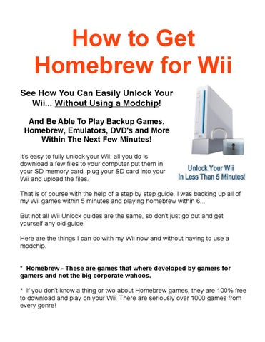 How to get homebrew for wii by Robert Prieto - issuu