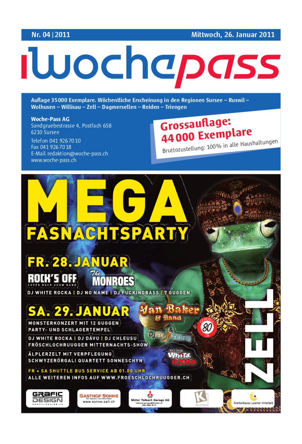 Woche-Pass | KW 04 | 26. Januar 2011 by Woche-Pass AG - issuu