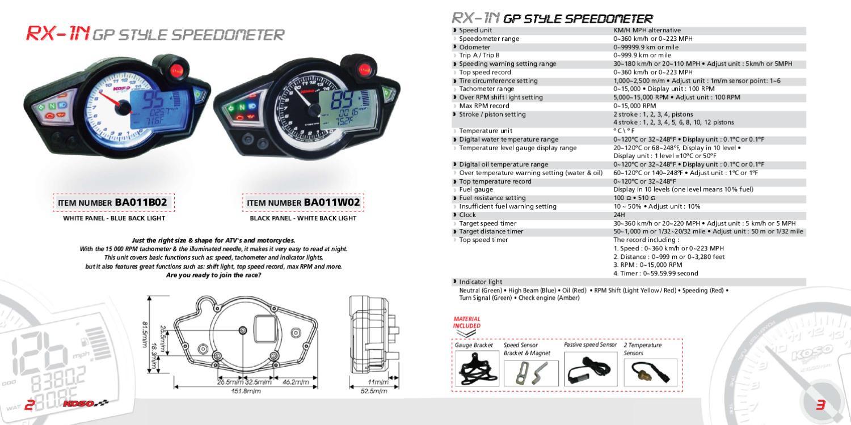 KOSO Function Display Koso GP Style D48 Telltales Meter