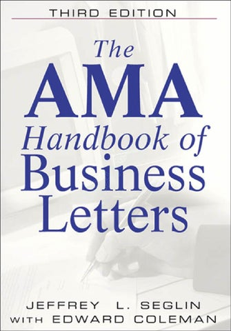 Business Letters By Ahmed Imthias