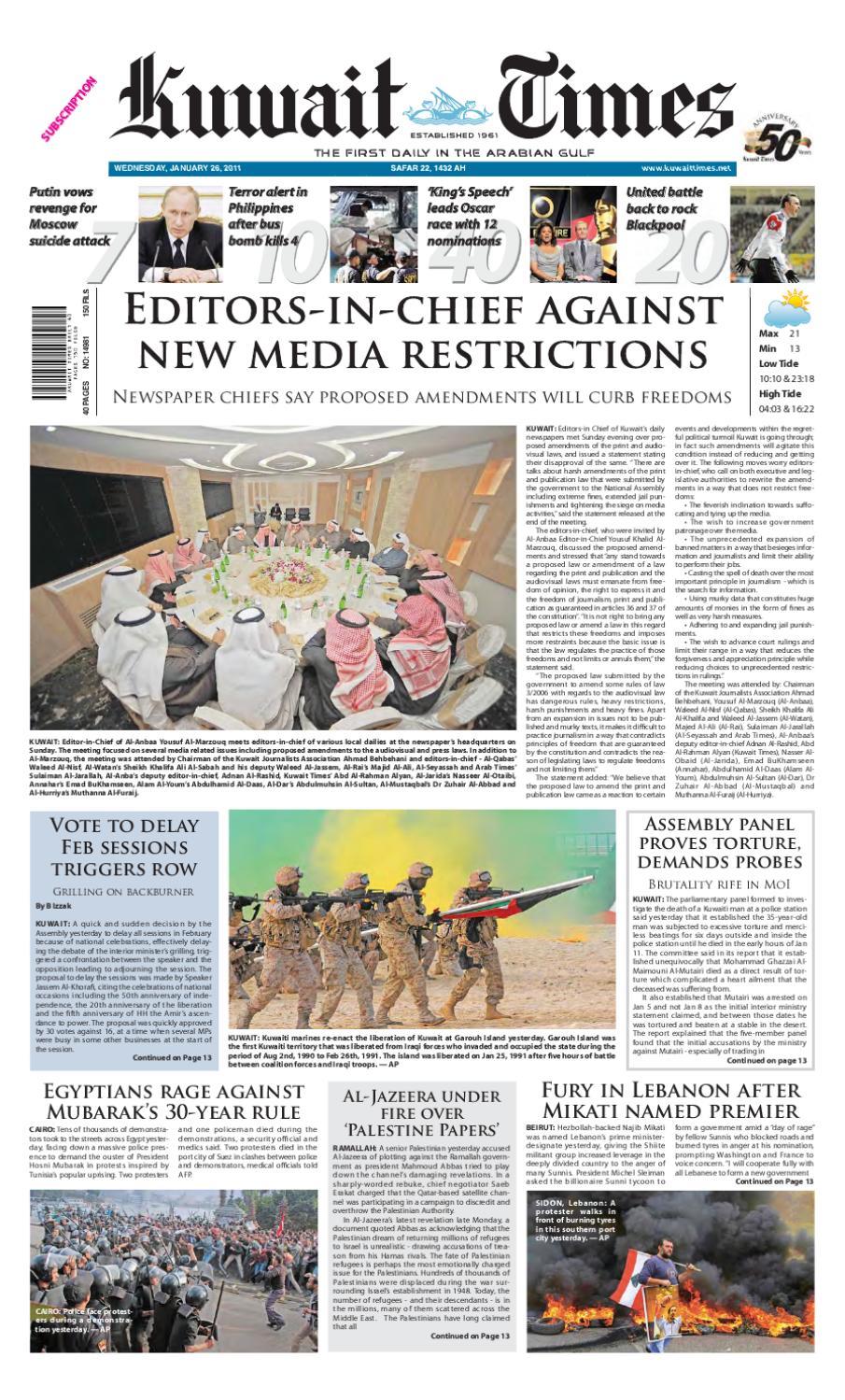 26 Jan By Kuwait Times Issuu