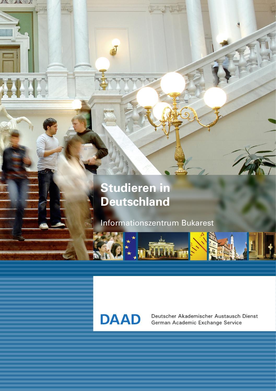 Studieren in deutschland by daad informationszentrum bukarest issuu for Studieren in deutschland