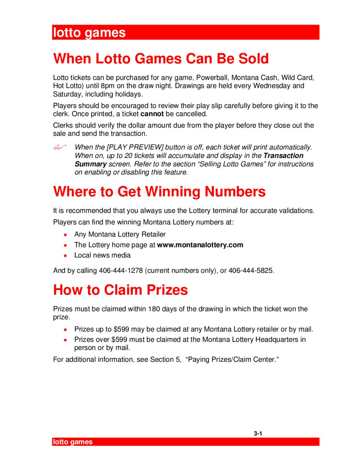 3 MT User-Games July06 by Montana Lottery - issuu