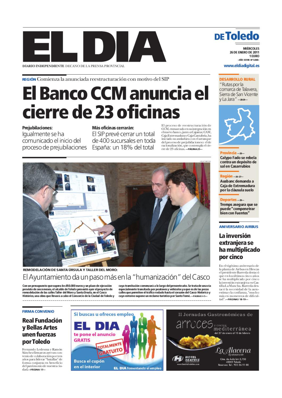 Toledo26012011 by grupo eldia issuu for Oficinas caja extremadura
