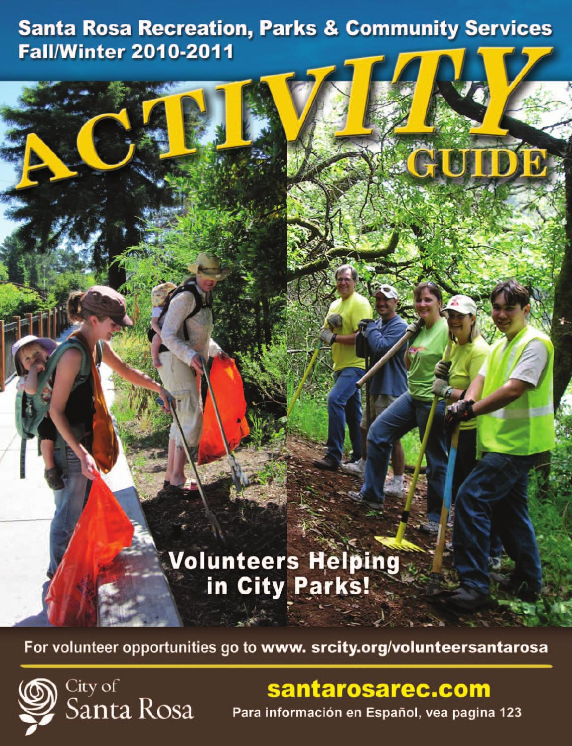 Fall 2010 Activity Guide by City of Santa Rosa Recreation