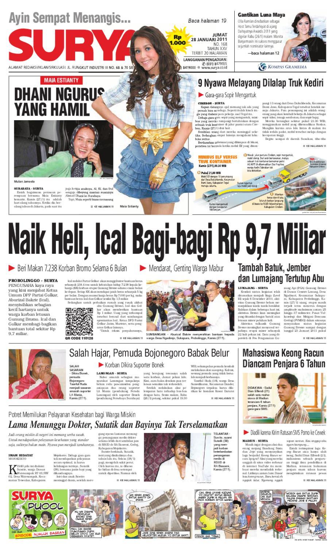 Surya Edisi Cetak 28 Januari 2011 By Harian Issuu Gendongan Bayi Depan Mbg 6201 Free Ongkir Jabodetabek
