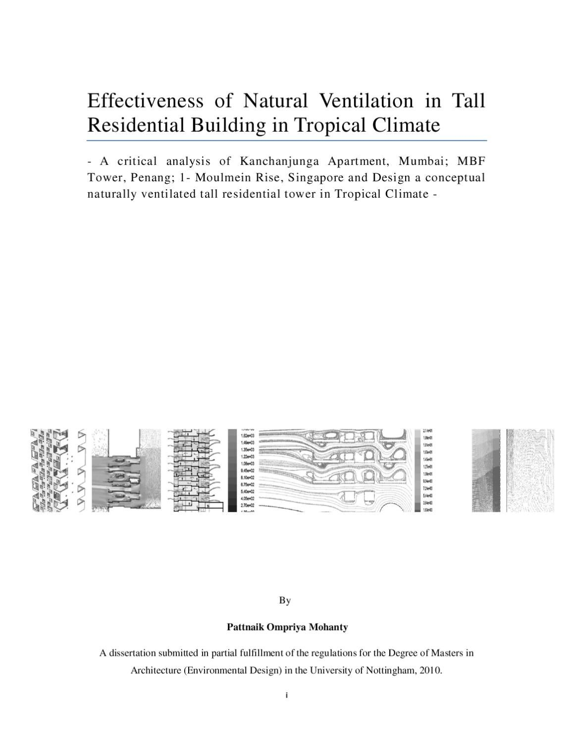 ed masters dissertation by pattnaik mohanty issuu rh issuu com cibse applications manual am10 natural ventilation