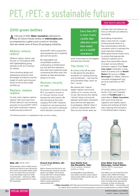 Issue 64 | Water Innovation by FoodBev Media Ltd - issuu